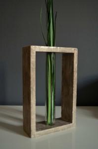 Transparent Glass Tube Vase