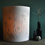 Dandelions and Plantains Lamp