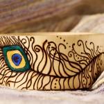 Peacock Feather Bracelet