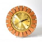 Teak East German Starburst Wall Clock